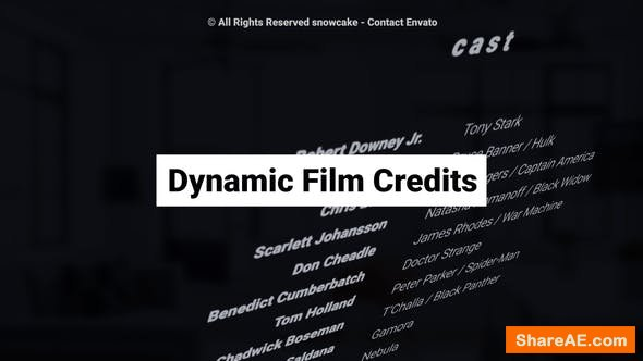 Videohive Dynamic Film Credits