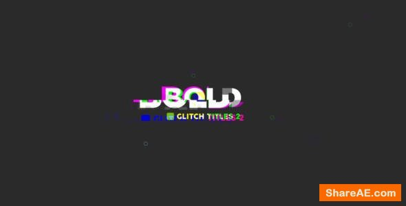 Videohive Glitch Titles 20280615