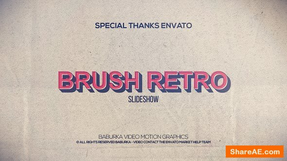 Videohive Brush Retro Slideshow