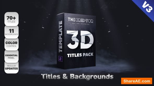 Videohive 3D Titles Pack