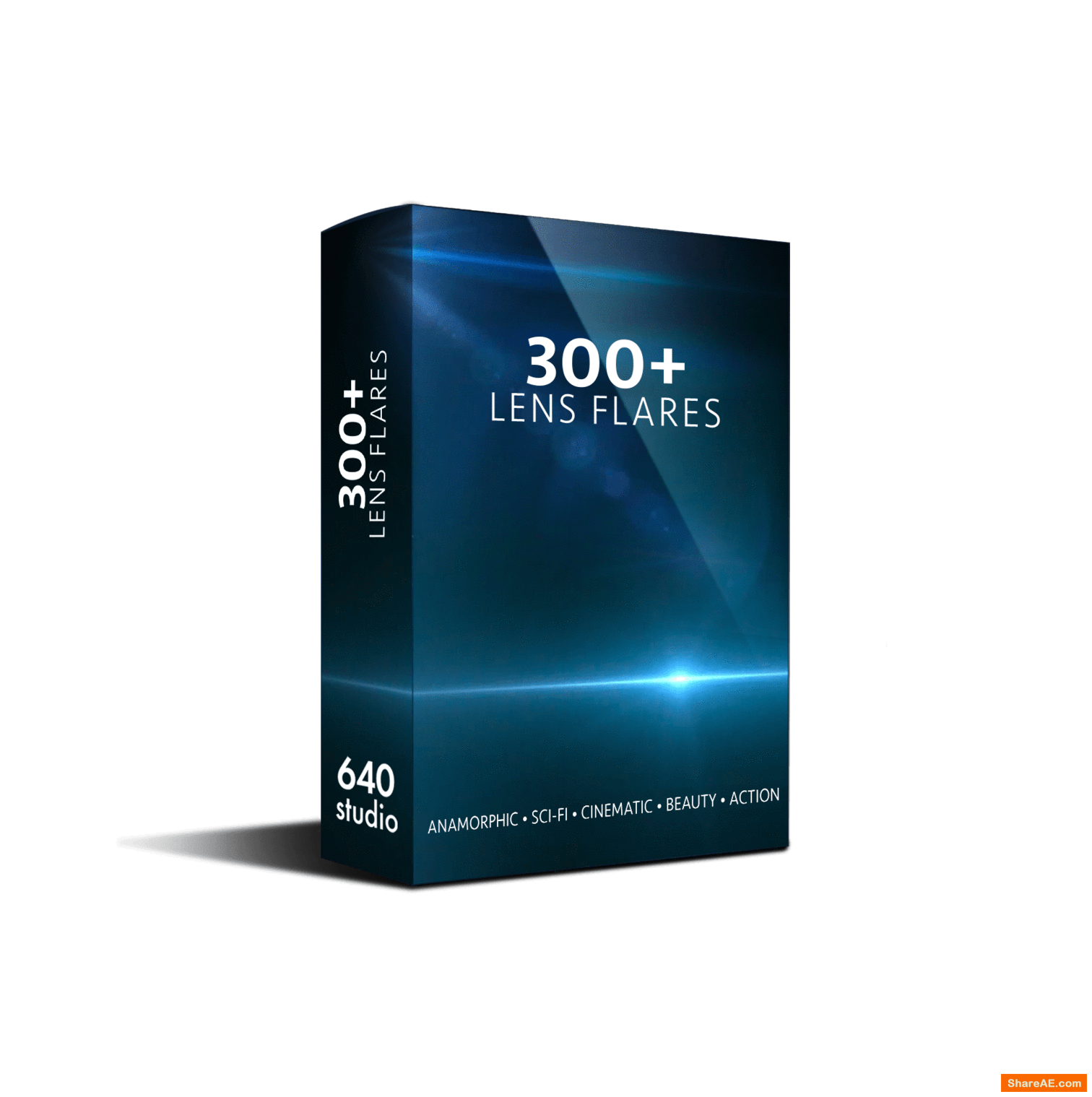 300+ Action Sci-fi Cinematic Anamorphic Lens Flares - 640studio