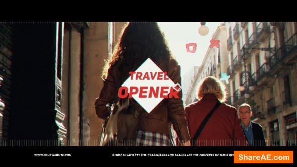 Videohive Travel Vlog Opener 21312450