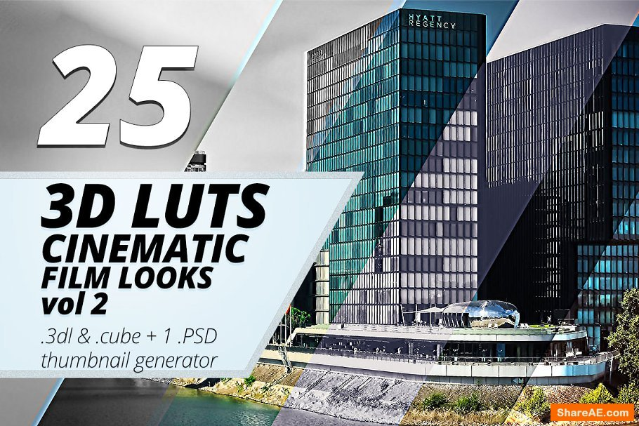 3d Luts - Cinematic Film Looks vol.2