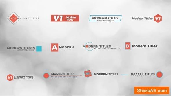 Videohive Modern Titles 21033384