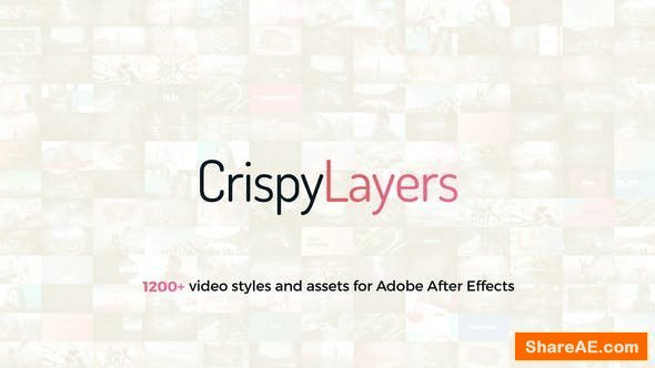 Videohive CrispyLayers 1.0 Graphics Pack - 1200+ Video Presets And Assets