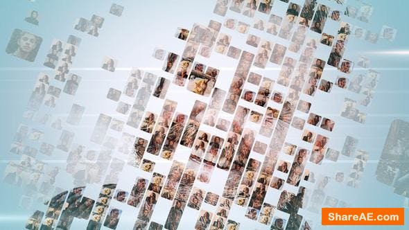 Videohive Simple Mosaic Logo - Apple Motion