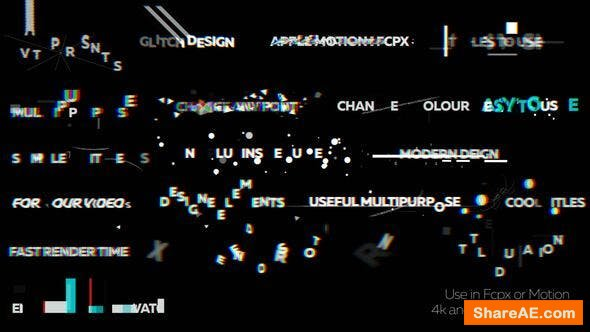 Videohive Glitch Titles 2 - Apple Motion