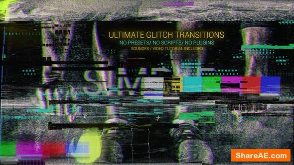 Videohive Glitch Transitions 21599820
