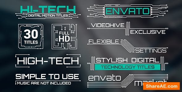 Videohive Hi-Tech Titles