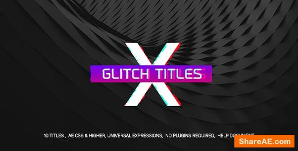 Videohive Gradient Glitch Titles