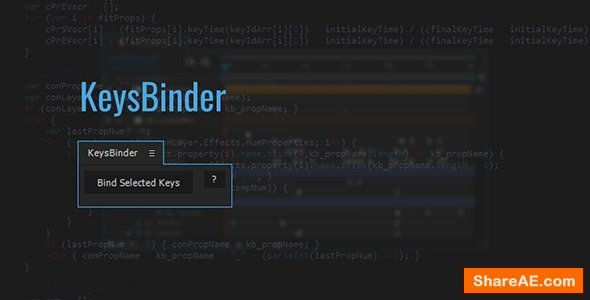 Videohive KeysBinder | After Effects Script
