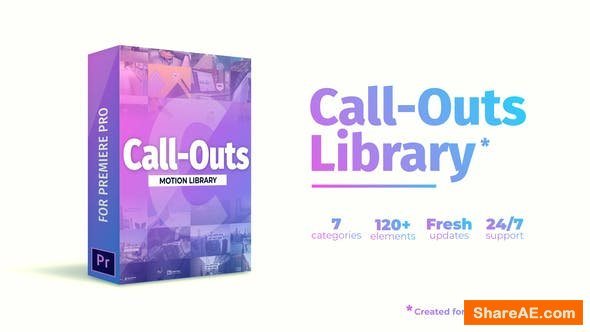 Videohive Call Outs Library | MOGRT for Premiere Pro