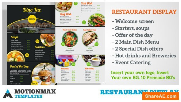 Videohive Restaurant Display 20386098