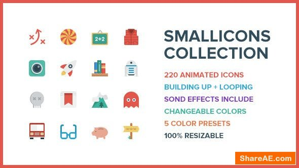 Videohive Smallicons - 220 Animated Icons