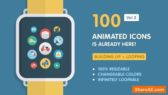 Videohive Ballicons Vol.2 - 100 Animated Icons
