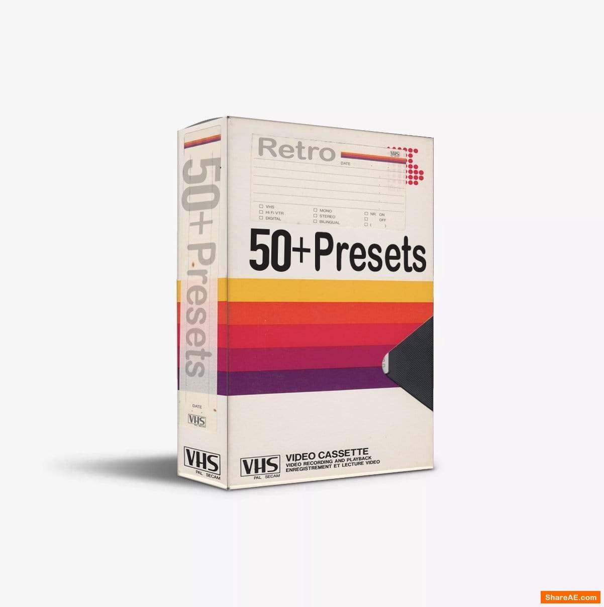 50+ VHS Presets Pack - 640Studio