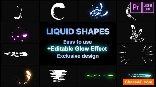 Videohive Dynamic Liquid Shapes - PREMIERE PRO