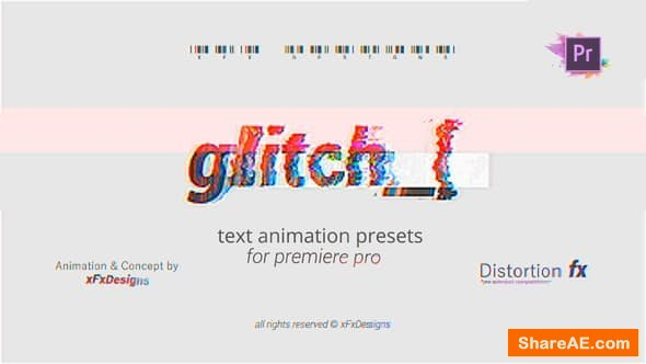 Videohive Project-x Glitch 30 Text Presets For Premiere Pro | Mogrt