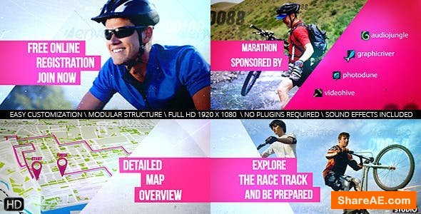 Videohive Cycling Marathon Broadcast Design