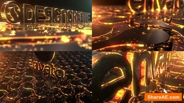 Videohive Particles Gold Logo