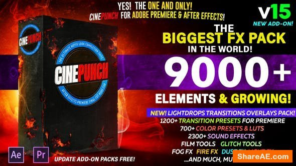 Videohive CINEPUNCH - The Biggest FX Pack in the World! [9000+ Elements]