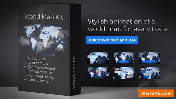 Videohive World Map Presentation