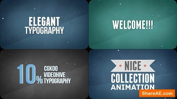 Videohive Elegant Kinetic Typography