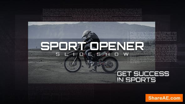 Videohive Sport Opener Slideshow