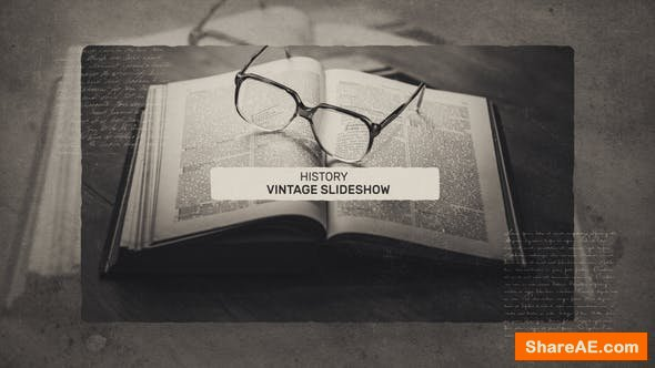 Videohive Vintage History Slideshow
