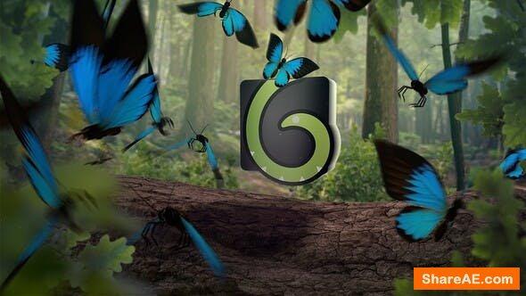 Videohive Butterfly Logo Opener 4K