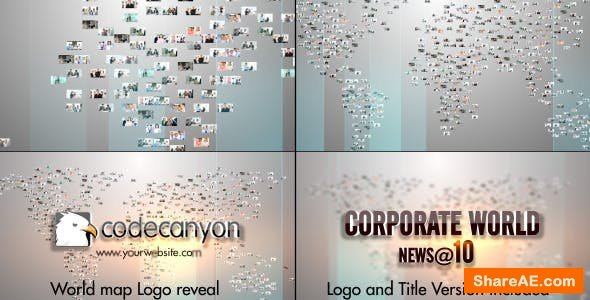 Videohive World Map Video Image Logo