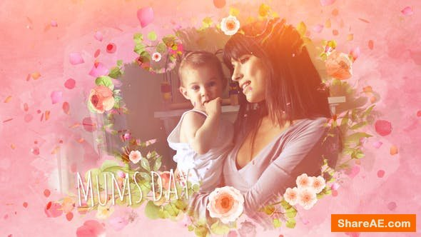 Videohive Mums Day Slideshow