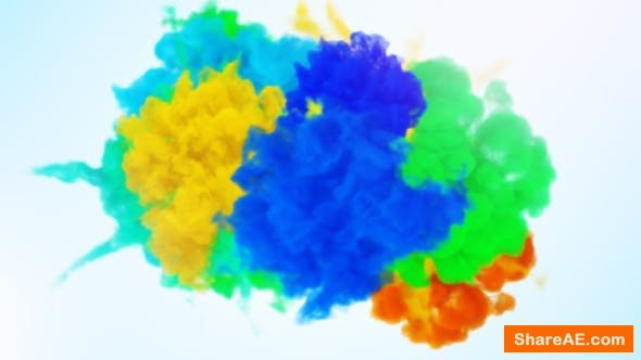 Videohive Color Of Smoke Logo Reveal