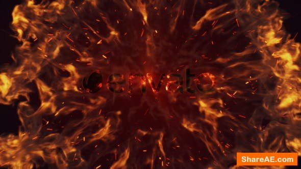 Videohive Intense Fire Burn Logo Reveal