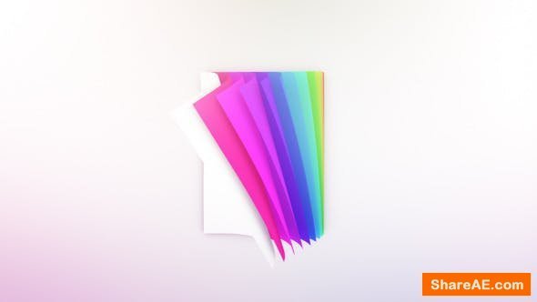 Videohive Colorful Pages Logo Reveal