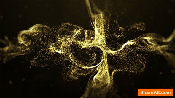 Videohive Gold Particle Logo