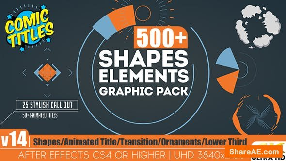 Videohive Shapes & Elements Graphic Pack v14