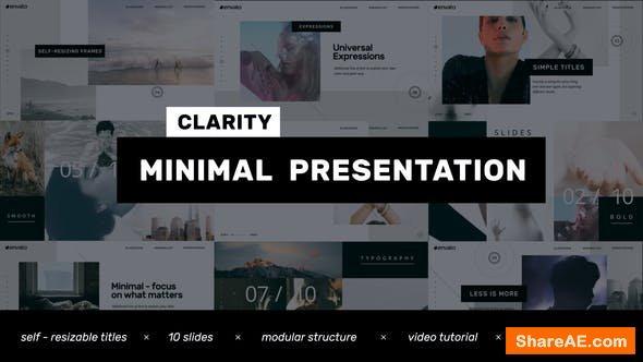 Videohive Clarity // Minimal Presentation - Clean Promo