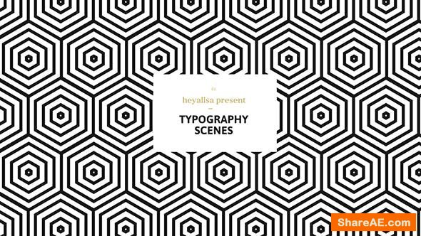 Videohive Grafica / Minimalistic Typography Scenes