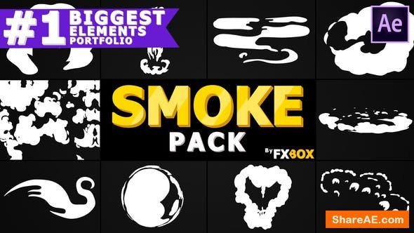 Videohive Dynamic Cartoon Smoke | After Effects