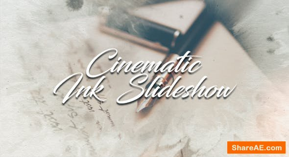 Videohive Cinematic Ink Slideshow 19596414