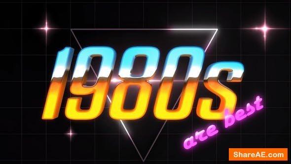 Videohive 80S Logo Intro