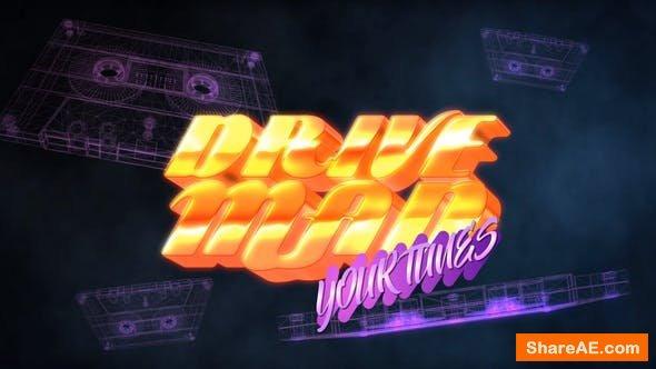 Videohive 80S Casette Logo Intro