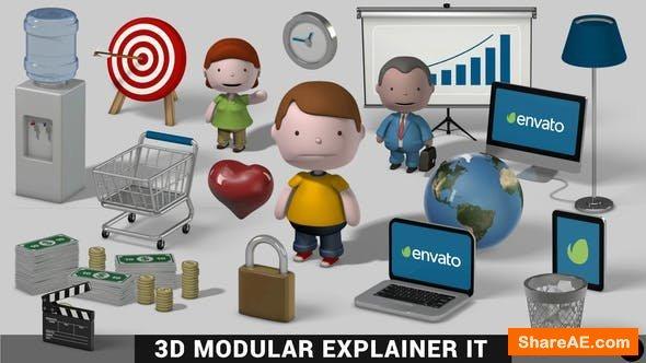 Videohive 3D Modular Explainer Kit