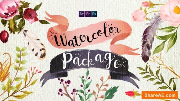Videohive Handwriting Watercolor Package