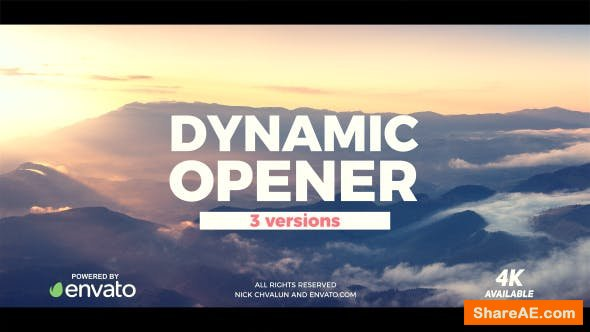 Videohive Dynamic Opener 20710281