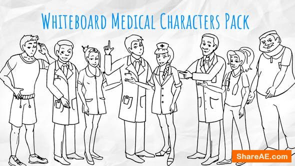 Videohive Medical Characters - Healthcare Whiteboard Animation