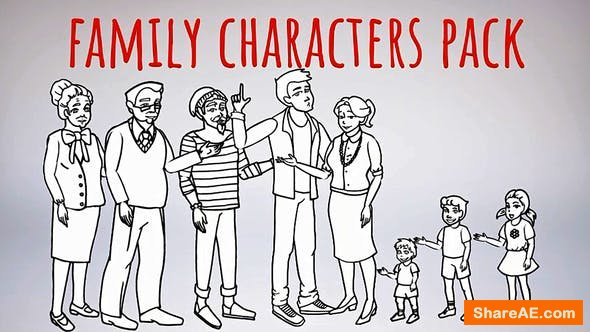 Videohive Whiteboard-Characters-Family-Whiteboard