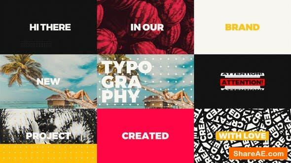 Videohive Creative Short Typo Opener