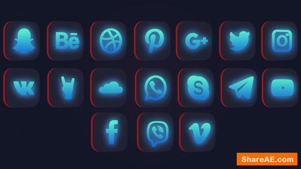 Videohive Social Media Logo Pack